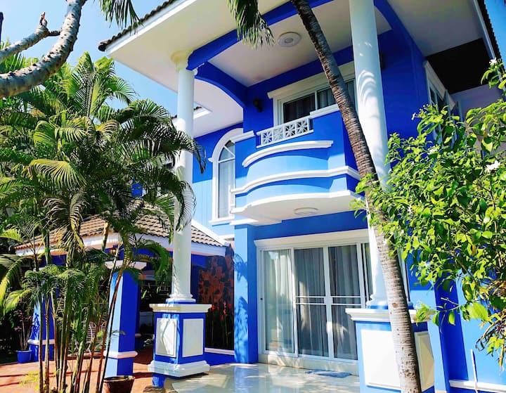 【清迈蓝房子Ⅱ】精致的家庭宅院,交通便利,舒适睡眠,超高性价比的选择