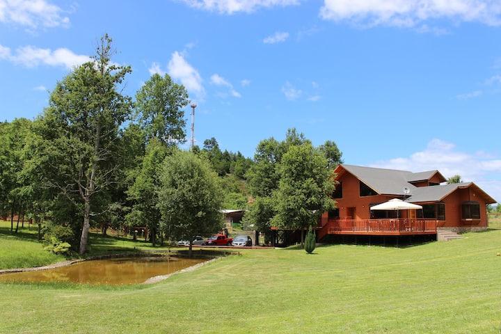 Hermosa cabaña para 13 personas en Licanray