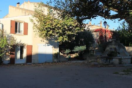 Maison sous les platanes en Drôme provençale - Saint-Pantaléon-les-Vignes