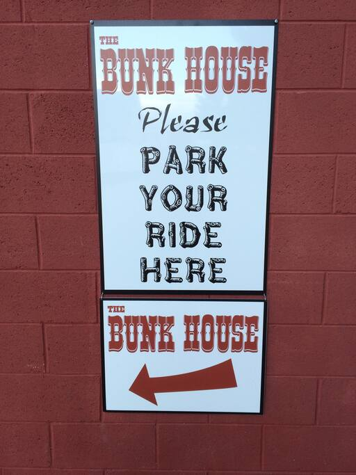 The sign you will see when you arrive!