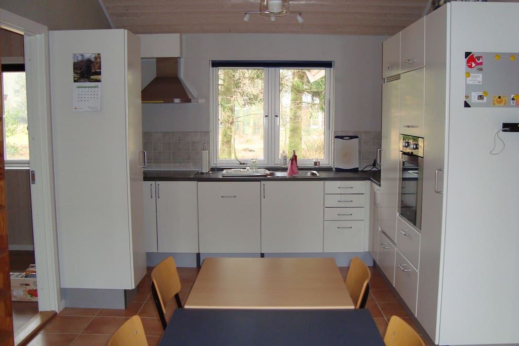 Kitchen with all needed appliances.