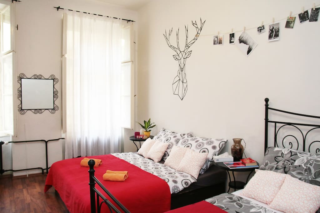 Bedroom with comfortable beds
