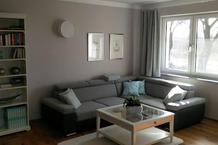 Ruhige, komfortable und grosse Wohnung (62 m2) - Kamień Pomorski - Condomínio