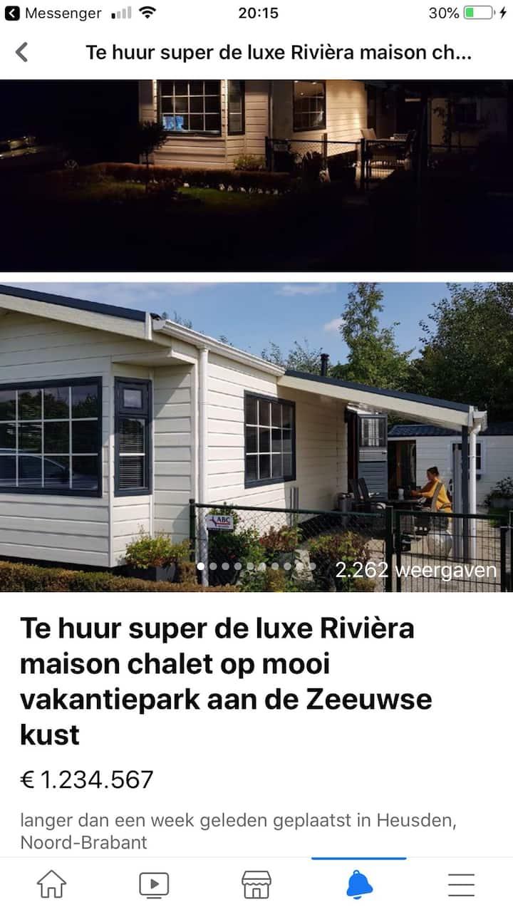 Super de luxe Rivièra maison chalet