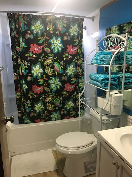 Guest bathroom with full size tub