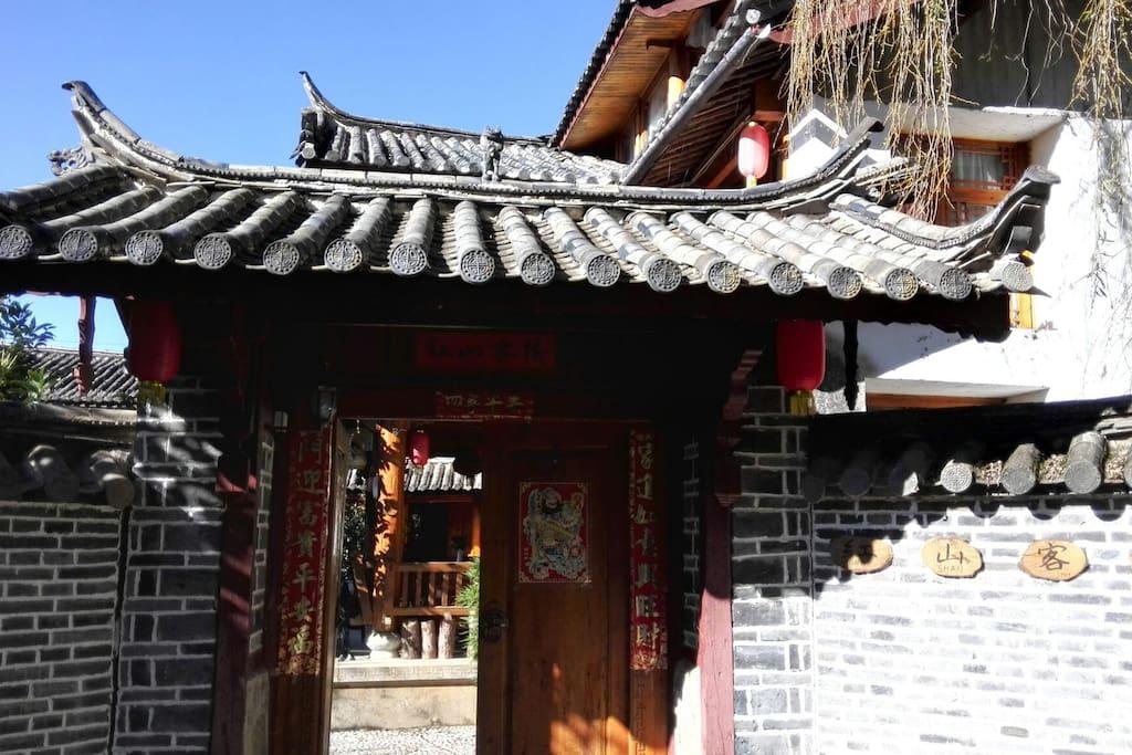客栈小院大门,中国式民族风