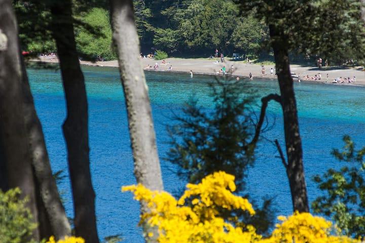Depto de nivel con vista al lago y pileta 105c