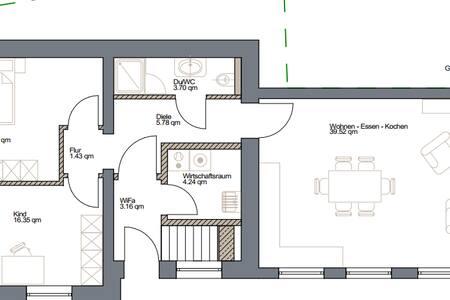 Modernes Ambiente in bäuerlichen Gebäude