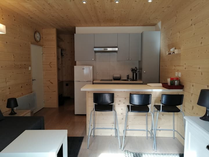 Small and cosy studio apartment for 2, grownd floor of one chalet into the center of Pra Loup