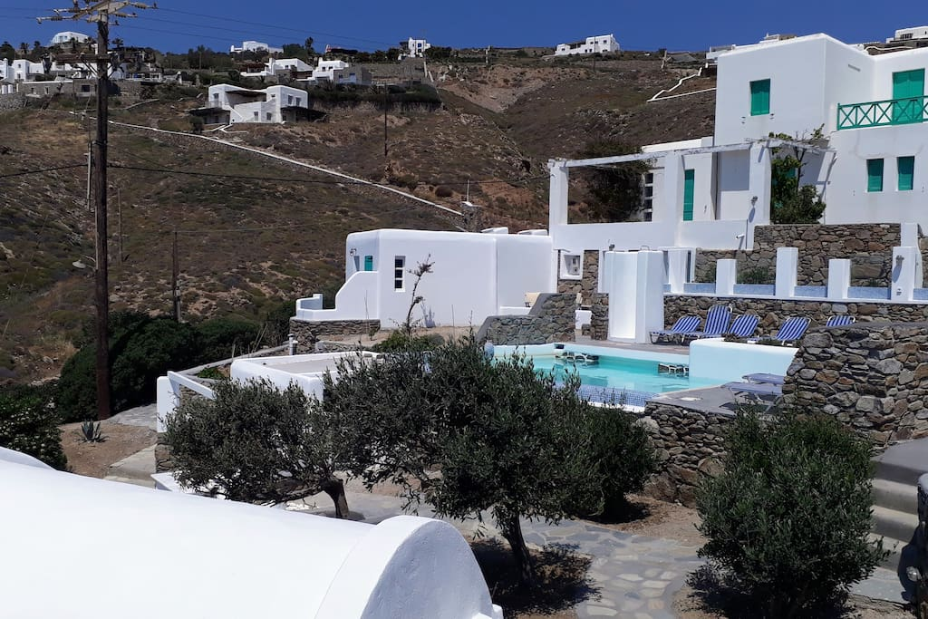 The Antonini's Village complex consists of eight independent apartments and studios. Antonini's Village has a new shared swimming pool, open air shower, sunbeds and beach towels for all guests in our apartments.