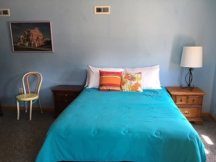 Second view of Queen sized bed, etc.