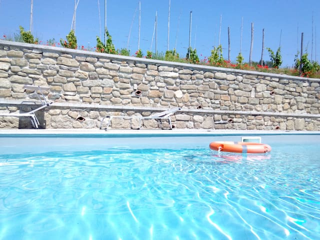 Cottage with private pool and free WI-FI - Spigno Monferrato - Huvila