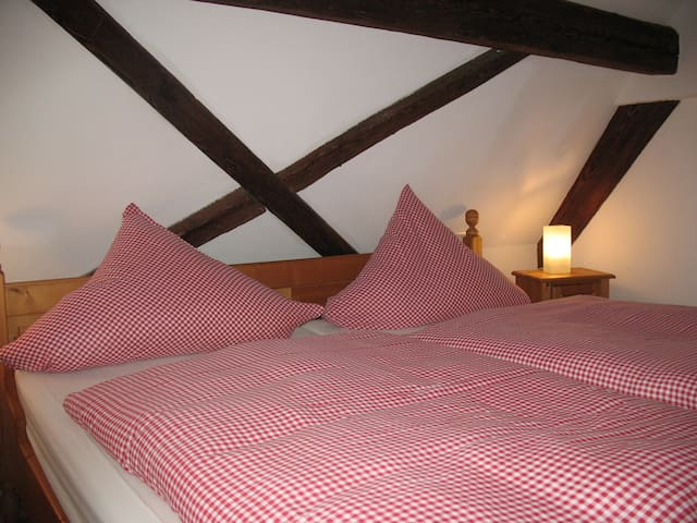 DG-Zimmer 2 im alten Fachwerkhaus - Bodenheim - Casa