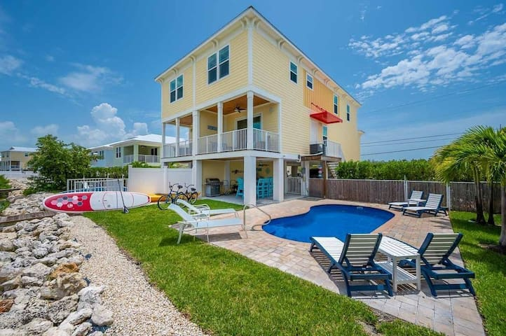 Toes in the Water - Private Pool and Dock, Canal Front, Beach!