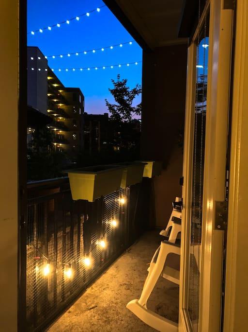 patio / back entrance