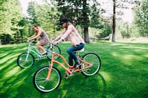 We provide complimentary bikes for guest use