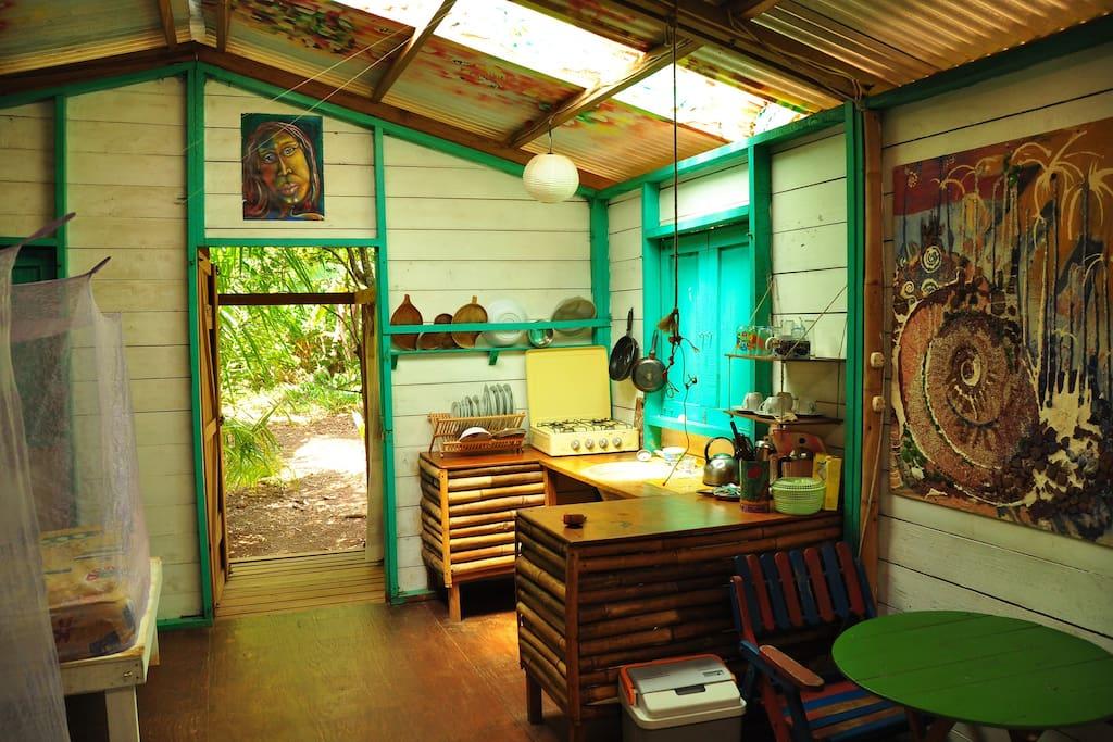 Inside casa miskita