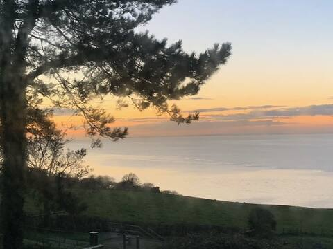 海景和日落