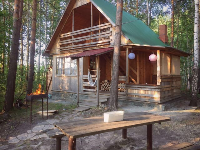 Wood cabin in Siberia