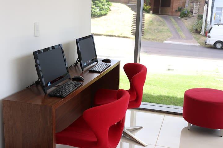 Computadoras, Internet en el lobby