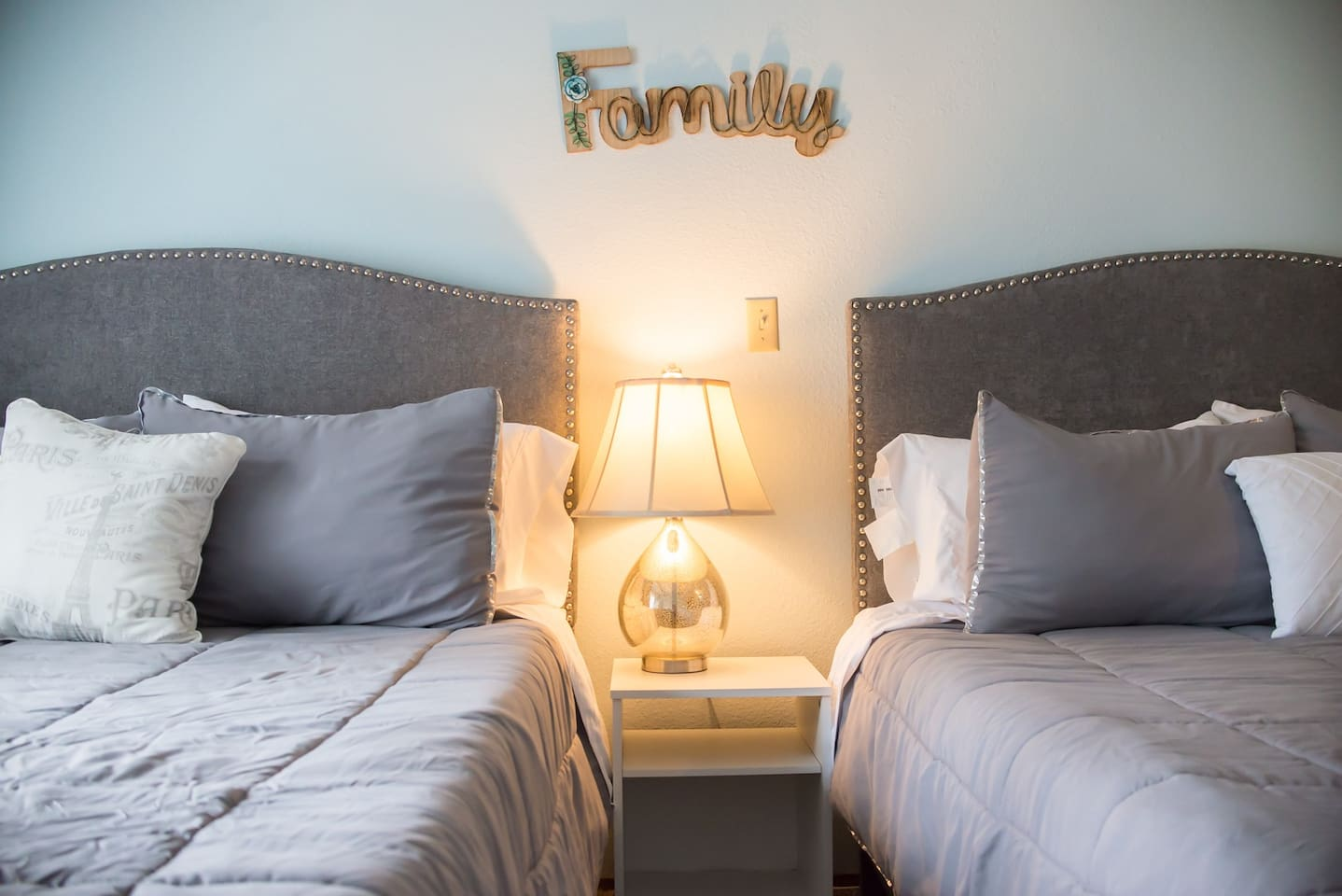 Our beds are all SUPER comfortable- new linens and high thread count sheets guarantee a great night's rest!