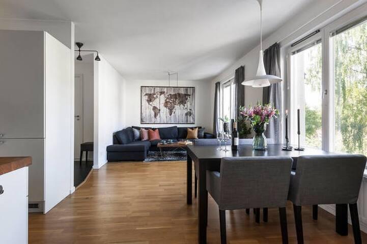 Modern apartment 10 min to trendy Södermalm