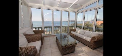Fantastic sea view apartment in Pržno