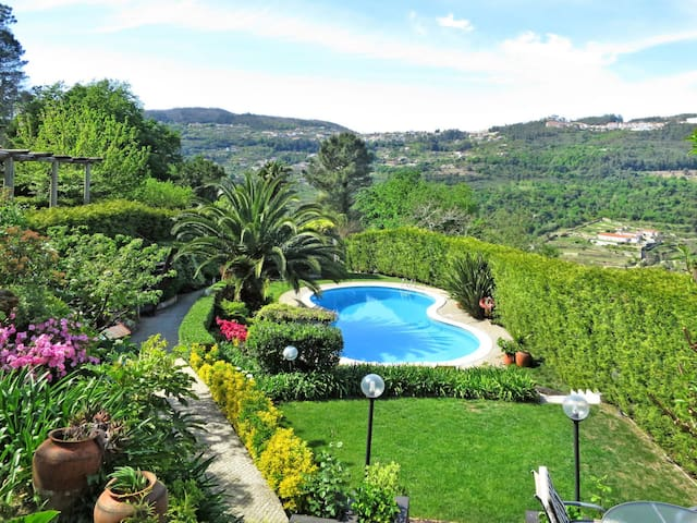 Beautiful stone house with beautiful pool area and stunning panoramic views of the river
