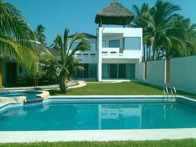 beachfront home Matanchen San Blas Riviera Nayarit - San Blas - Rumah