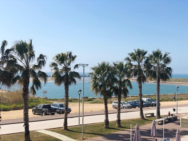 """SEAFRONT APARTMENT. BEACH, POOL & RELAX. """"WIFI"""" AC"""