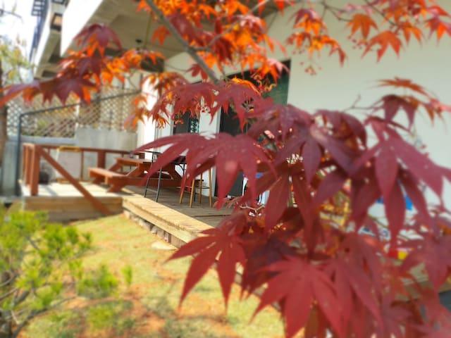 헤이리, 프로방스, 파주일산 여행객을 위한 정원과 테라스가 있는 주택 KINTEX 20분