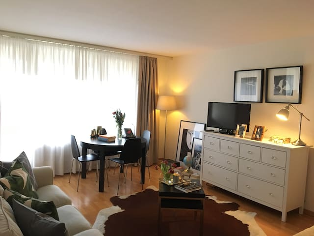 Stylish, elegant apt 3 min walk from train station - Neuchâtel - Apartamento