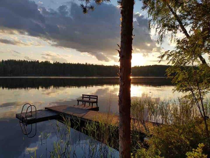 Log cabin by the lake Konnevesi