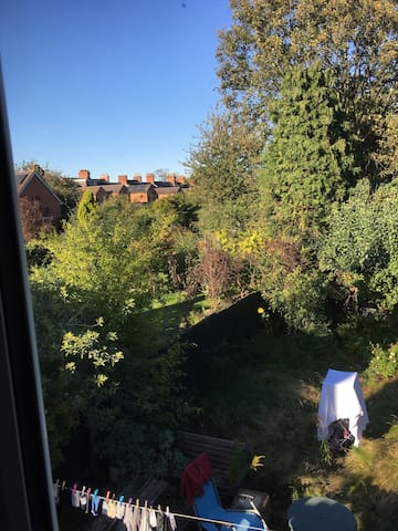 View of garden from office/wardrobe room