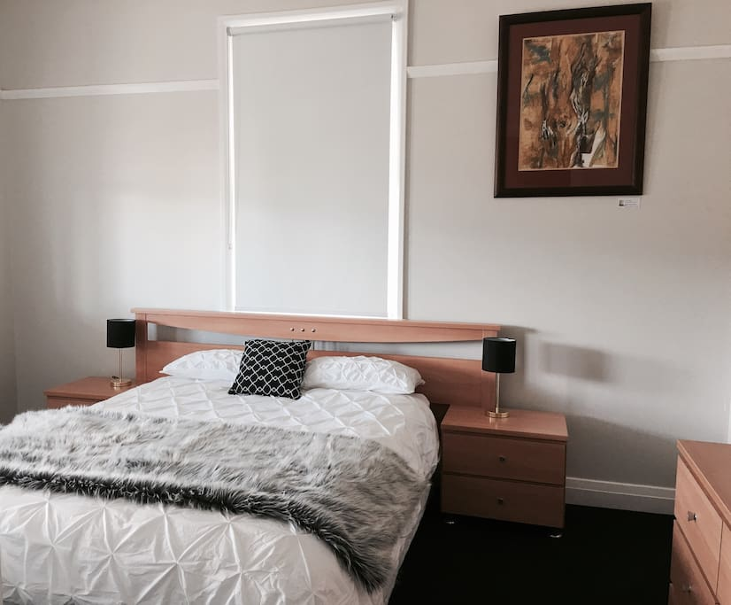The bedrooms are spacious and comfortable