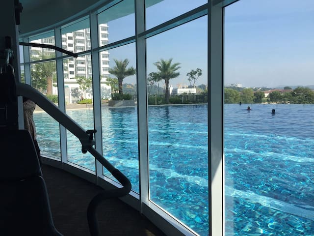 View pool from Gym Room