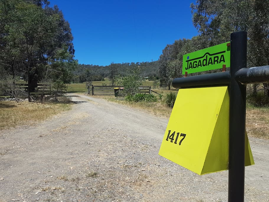 Letterbox and entrance off Buckland Gap Road