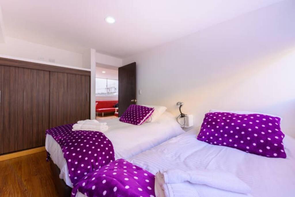 Apto con 4  camas gemelas por habitación 2 Cupo Col$800.000