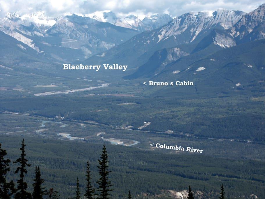 the beautiful Blaeberry valley