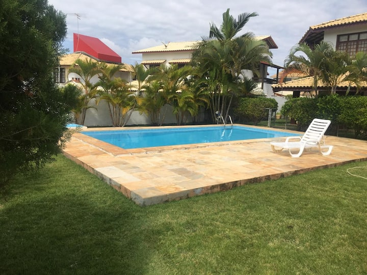 Maravilhosa casa na praia de Villas do Atlântico
