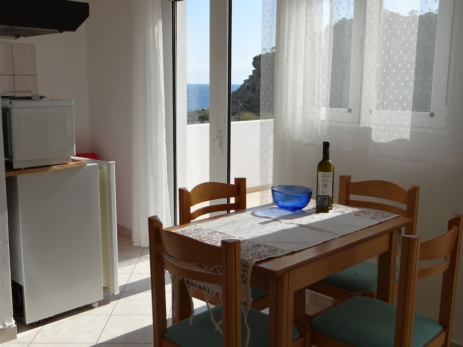 Kitchen area with access to terrace