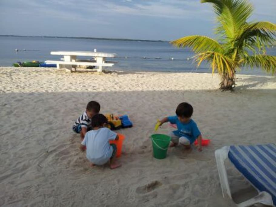Enjoy the complex private beach