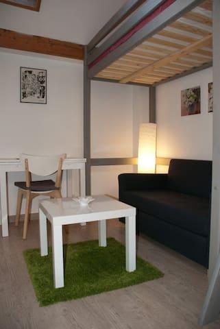 Calm and independent studio - Rouen - Casa