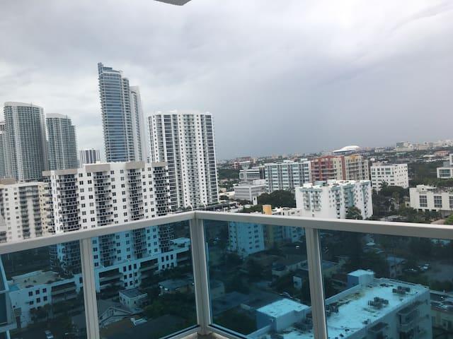Amazing view from modern loft. Min. 180 day rental