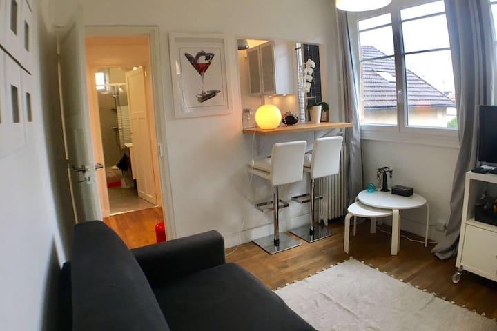 Confortable studio à 10 minutes de Paris