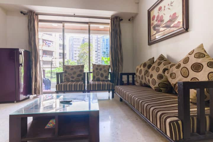 Centrally Located 3BHK Apt at Kalina - AC/WiFi