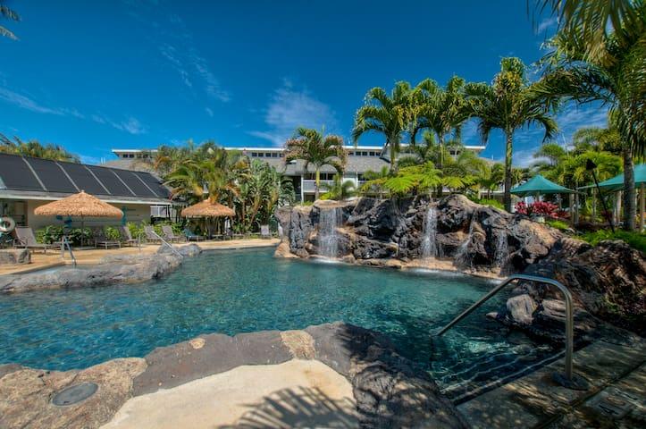 Princeville Cliffs~Pool/2 Jacuzzis~ Budget Price! - Princeville - Apto. en complejo residencial