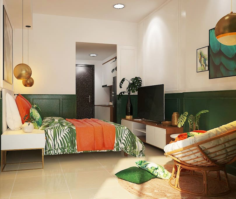 Jade's Lovely Green Apartment