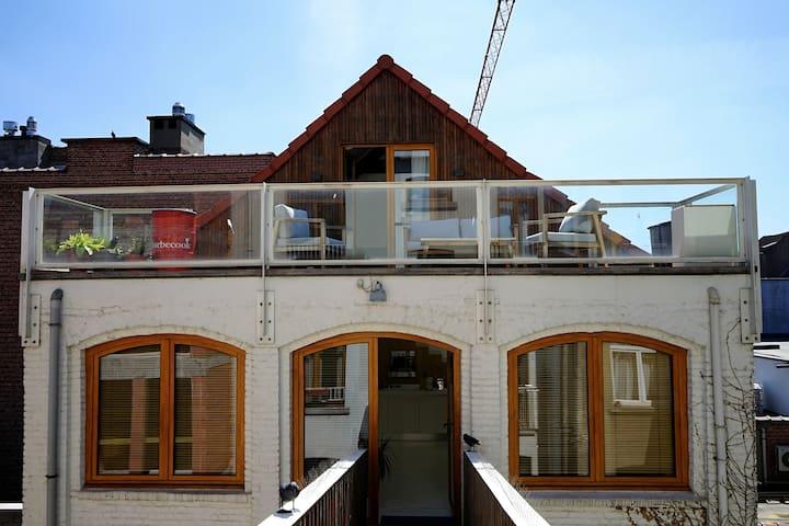 Loft apartment with sunny terrace