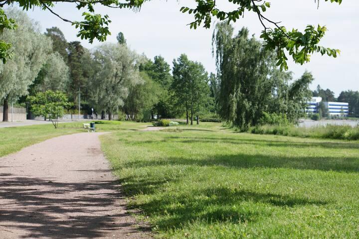 Green and quiet neighborhood